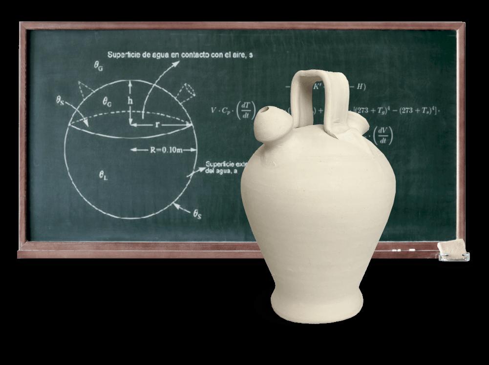 fórmula matemática del enfriamiento del botijo