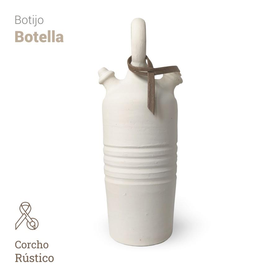 Botijo Botella 2L+corcho rustico - Bootijo