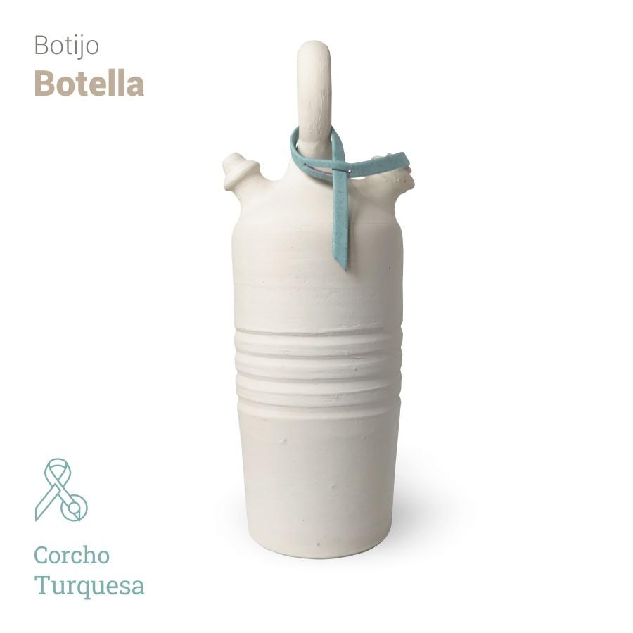 Botijo Botella 2L+corcho turquesa - Bootijo