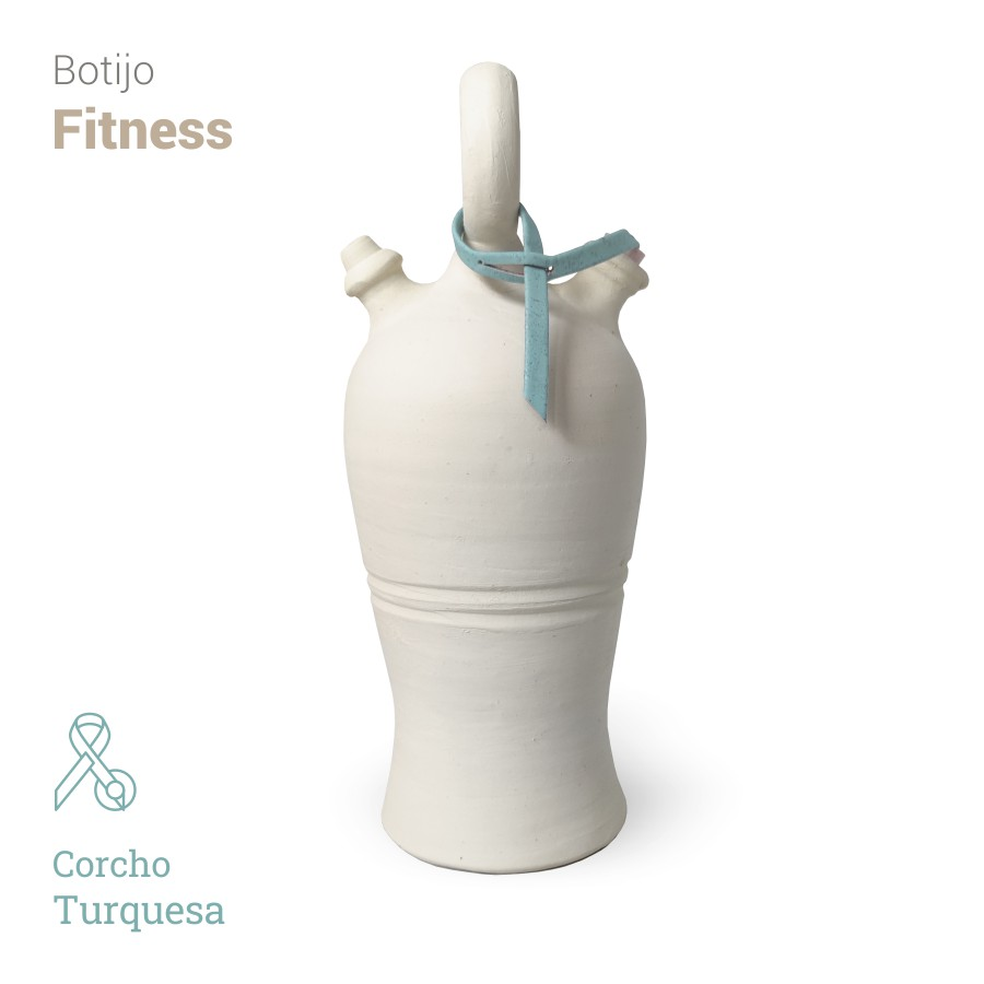 Botijo Fitness 2L+corcho turquesa - Bootijo
