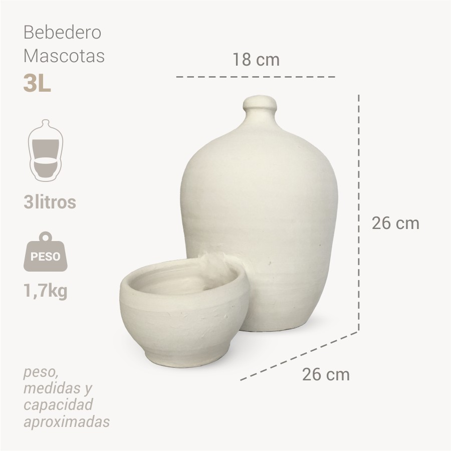 Bebedero mascotas 3L info - Bootijo