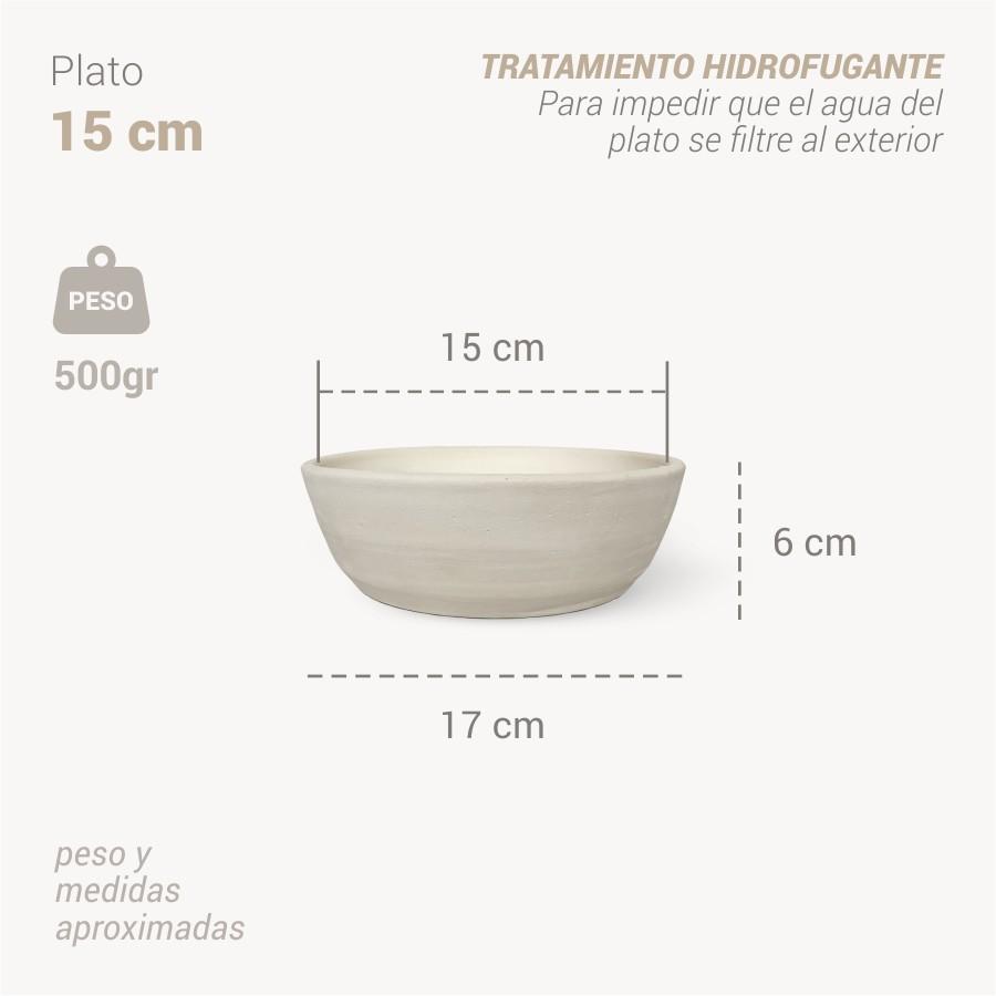 Plato botijo 15 cm info - Bootijo